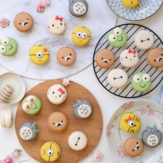 Cute character macaroons by Sydney desserts , Australia (@bakedbyandres)