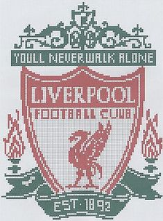 Cross Stitch Designs, Cross Stitch Patterns, Liverpool Logo, Hama Beads Design, Frames For Sale, Cross Crafts, Counted Cross Stitch Kits, Embroidery Kits, Chrochet