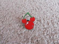 Hidden Mickey Pin 2007 Series 2 - Fruit - Cherry *FREE SHIPPING*