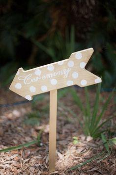 Arrow shaped #WeddingSign