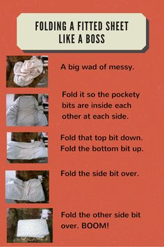 How to fold a fitted sheet. Easy peasy.