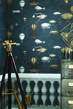 Cole & Son Fornasetti II Wallpaper Collection Macchine Volanti  wallpaperdirect