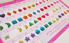 I used these for Stick on earrings and nail stickers.