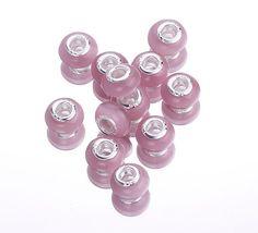 Handmade Lampwork Glass Beads European Bead Pink by EOZYBEADS    $4.99