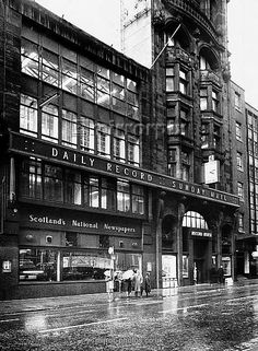 The Daily Record Building In Hope Street, Glasgow, Scotland now moved to new premises in Anderson Quay.