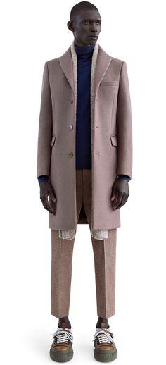 Garret heavy melton wool coat in multi melange #AcneStudios #FW15 #menswear