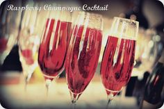 The Perfect New Year's Eve Drink: Raspberry Champagne Cocktail!