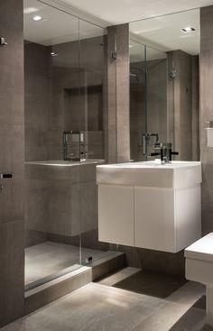 modern guest bathroom design. Interior Designer Portfolio By Michael Dawkins Home - Dering Hall Modern Guest Bathroom Design