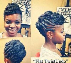 Flat twist updo