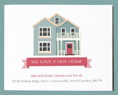 New Home Announcement  Postcard (pack of 25) - Moving Announcement - Change of Address Card