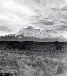 Mount Shasta with Shastina, 1900. volcanoes.usgs.gov/volcanoes/mount_shasta/