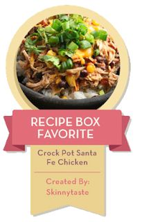 Crock Pot Santa Fe Chicken | Skinnytaste:  I use fresh chopped tomatoes and peppers (not canned)! I also added a dollop of sour cream and salsa! Fabulous!