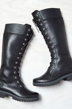 AEO Timberland Premium Side-Zip Lace Waterproof Boot Cut, Women's, Size: 10, Black