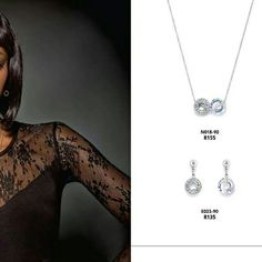 Delicate necklace & earrings from R105    #jewelry #jewels #socialenvy #fashion #crystals #accessories #trendy #fashionista #instajewelry ronel.cazabella@yahoo.com Delicate, Jewels, Crystals, Diamond, Earrings, Silver, Accessories, Fashion, Ear Rings