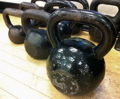 Kettlebells are able to incorporate a much larger range of motion than other methods of weight training, while also working in some cardio because of all the swinging. Studies show kettlebells can provide a higher-intensity workout than more traditional  weight-training routines in a shorter amount of time. Plus, a kettlebell workout can burn up to 20.2 calories per minute (that's about as much as running at a 6-minute mile pace!).