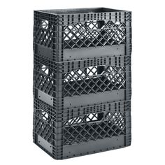 Muscle Rack 24 Quart 3 Pack Red Heavy Duty Rectangular Stackable Dairy Milk Crates - Walmart.com - Walmart.com Milk Crate Storage, Cube Storage, Storage Organization, Milk Crate Seats, Storage Crates, Plastic Milk Crates, Cube Organizer, Wood Crates, Black Milk