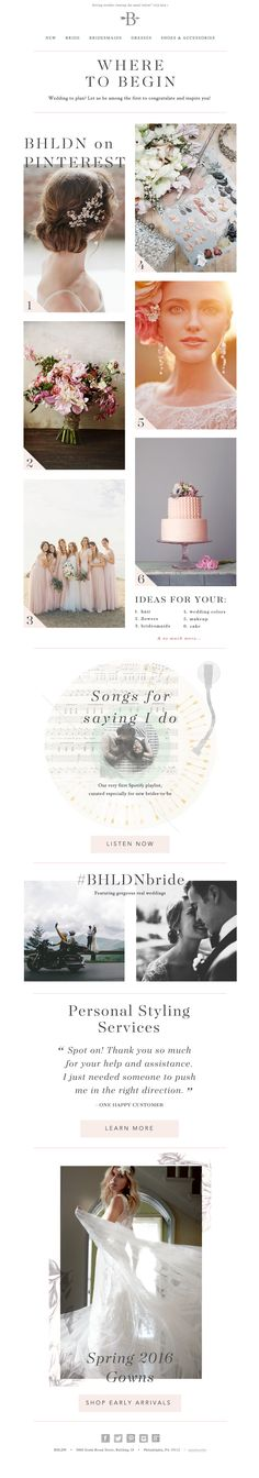 BHLDN | Anthropologie Weddings | Newsletter | How to start planning a wedding | Design | Email