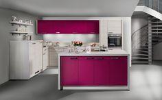 Cozinha Clean, com o destaque para o lindo tom de rosa!