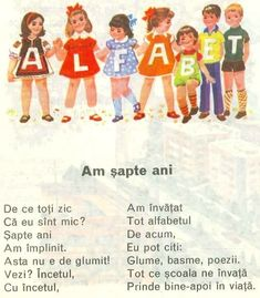 vintage romanian ABC 1982 Teacher Supplies, School Games, Worksheets For Kids, Kids Education, Nursery Rhymes, Pre School, Projects For Kids, Kids And Parenting, Childhood Memories