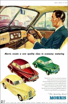 Creative Gifts For Photographers [It doesn't have to be costly] Vintage Advertisements, Vintage Ads, Morris Traveller, Car Posters, Retro Posters, Morris Minor, Garage Art, Car Advertising, Car Drawings