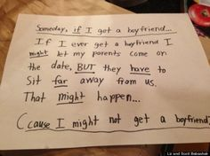 Cute Kid Note Of The Day: I MIGHT let my parents... [PHOTO]