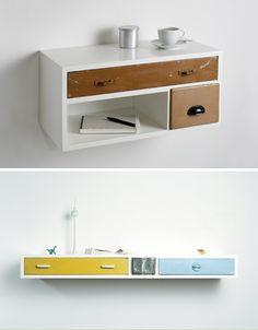 DIY upcycled drawers