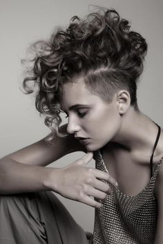 curly mohawk for women