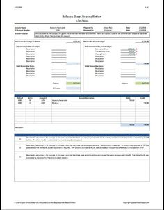 excel personal balance sheet