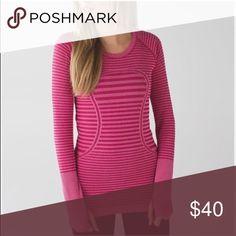 Lulu long sleeve stop PRICE IS FIRM Size 8! Fits like a med. super cute lululemon athletica Tops Tees - Long Sleeve
