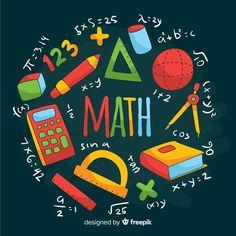 Discover thousands of free-copyright vectors on Freepik Chalkboard Background Free, Math Logo, Math Wallpaper, Summer Bulletin Boards, Math Design, Image Deco, Powerpoint Background Design, School Murals, Cartoon Background