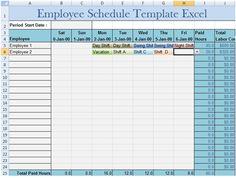 Download Employee Schedule Template Excel