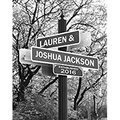 Lovers Lane - Personalized Print Wedding Art Gift for the Bride and Groom