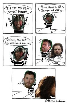 Thor meets Bucky (No Spoilers)