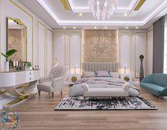 Home Design Living Room, Glam Living Room, Room Design Bedroom, Modern Bedroom Design, Home Decor Bedroom, Dream House Interior, Luxury Homes Interior, Mansion Bedroom, Showroom Interior Design