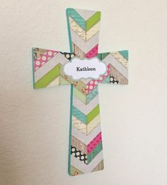 Teen Girls Cross Turquoise Cross by EthelsGranddaughter on Etsy Crosses Decor, Wood Crosses, Aqua Nursery, Nursery Art, Confirmation Gifts, Different Shapes, Gifts For Girls, Quilt Patterns, Angels