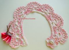 \ PINK ROSE CROCHET /: Audrey Gola - Crochet Collar