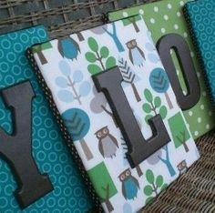 Canvas and wooden letters by HeartlessJerk
