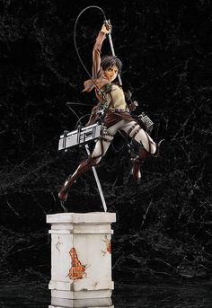 Figura Eren Yeager 35 cm. Ataque a los titanes. Escala 1/8. Good Smile Company Espectacular y detallada estatua del protagonista Eren Yeager de 35 cm de altura aprox., a escala 1/8 y perteneciente al manga/anime Attack on Titan (Ataque a los titanes).