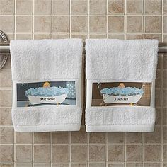 Bathtub Family Characters Collection© Personalized Hand Towel