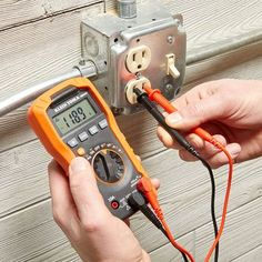 A Guide to Multimeters and How to Use Them - Home repair Multimeters are a super-handy tool, and they are easier to use than you think. Types Of Electrical Wiring, Electrical Projects, Electrical Tools, Electrical Engineering, Electrical Symbols, Electrical Installation, Chemical Engineering, Electrical Outlets, Diy Electronics