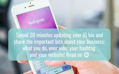 Writing your Instagram bio - hellomedia Instagram Bio, Instagram Accounts, Instagram Story, Business Profile, Story Highlights, Business Website, Get Directions, Business Branding, Physics