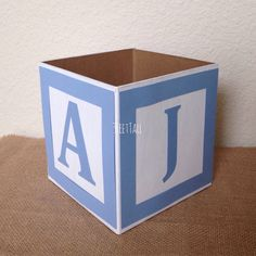 Baby Shower centerpiece, alphabet block, sip and see, baby boy baby shower, baby girl shower, large alphabet block