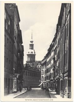 Töpfergasse Dresden, view to the west – Nico Kretzschmar – Join the world of pin Dresden Germany, Vintage Architecture, Street View, Europe, World, City, Places, Pictures, Roads