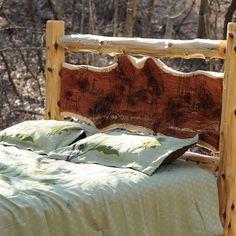 rustic+cedar+furniture   Cedar Log Rustic Bed - Niangua Furniture