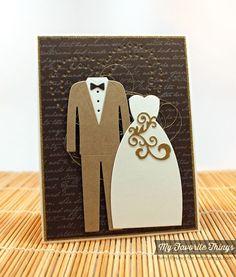 Romantic Script Background, Bride & Groom Die-namics, Peek-a-Boo Heart Frames Die-namics - Amy Rysavy #mftstamps