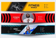 Youtube Banner Design, Youtube Banner Template, Design Youtube, Youtube Banners, Gym Banner, Gaming Banner, Header Banner, Youtube Logo, Monogram Logo