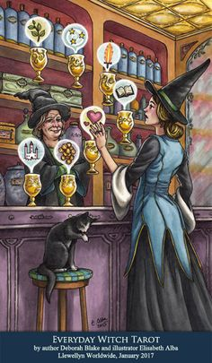 good witch bad witch tarot cards | All artwork is the property of Elisabeth Alba © Copyright 2016.