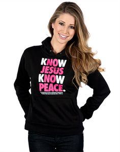 Know Jesus Pullover Hoodie - Christian Womens Sweatshirts for $19.99 | C28.com