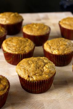 Whole Wheat Pumpkin Oat Muffins - light and tender muffins full of fall flavor