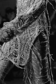 Texture - Gareth Pugh - Runway Knitwear Detail SS10 {how crazy time consuming would this be @morphknitwear}